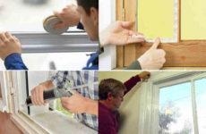 Чем заклеить окна на зиму, чтобы не дуло – обзор материалов