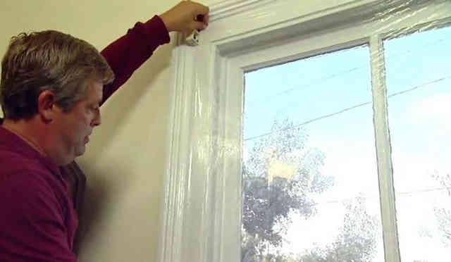 Заклеивание окна плёнкой