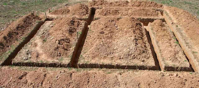 Земляные работы для производства фундамента